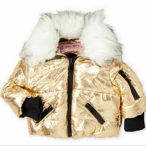 Urban Republic Girls Coat Gold Winter Jacket Sz 14